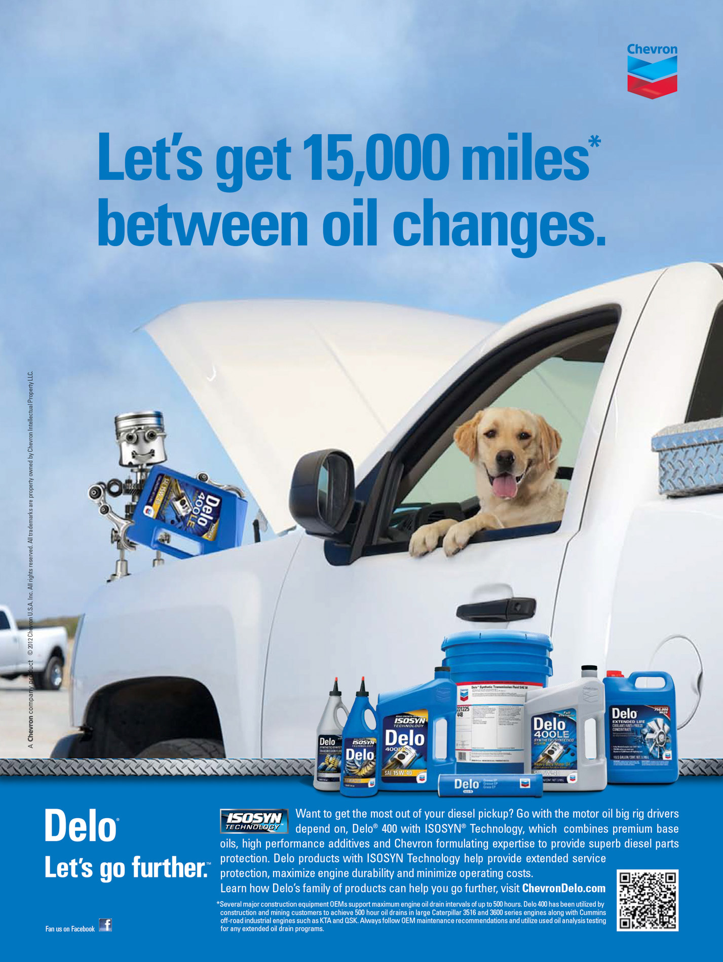Advertising Photography | Chevron Dog Ad by Mark Rogers