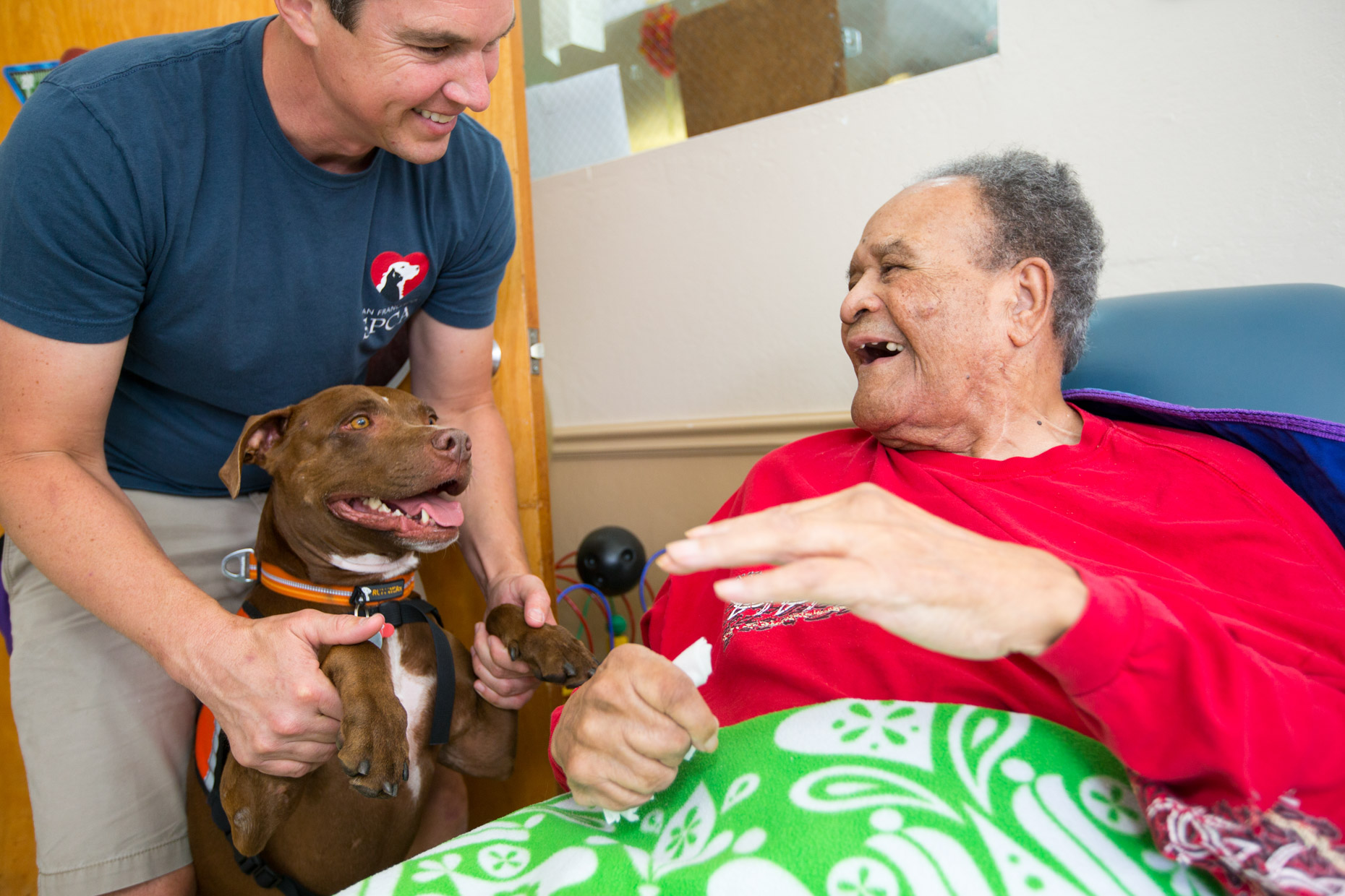 Commercial Animal Photography | Elderly Man with Therapy Dog by Mark Rogers