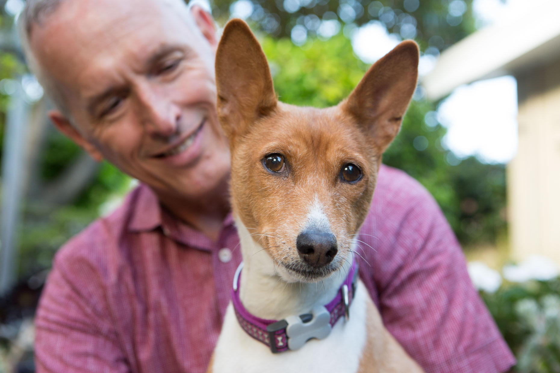 Dog and Pet Photography | Man With Basenji Dog by Mark Rogers