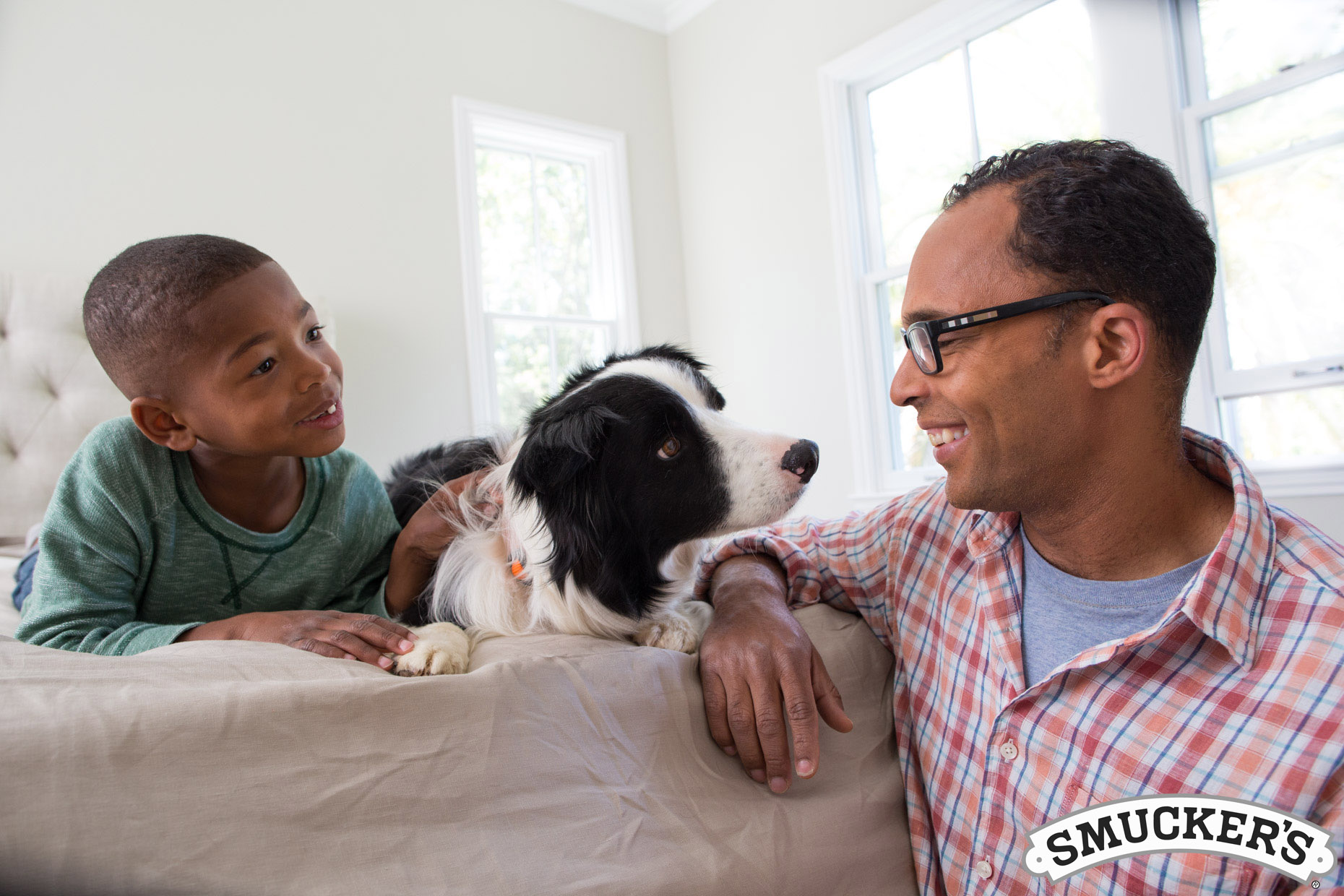 Advertising Photography | Father and Son and Dog by Mark Rogers