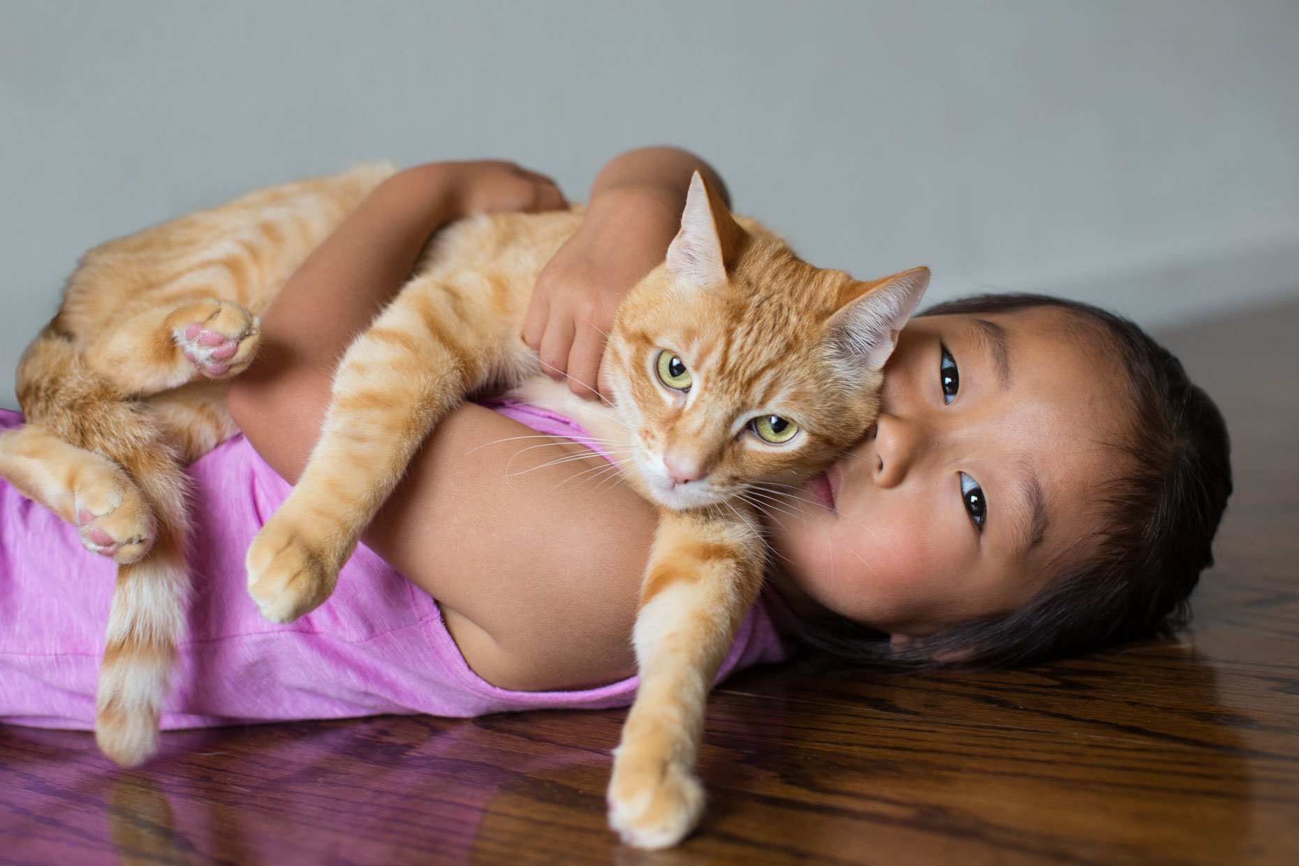 Cat and People Photography | Little Girl with Cat by Mark Rogers